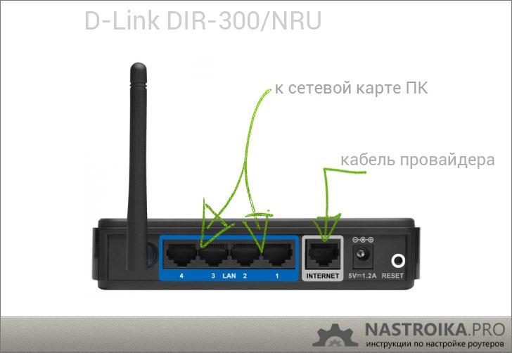 Подключение роутера D-Link DIR-300