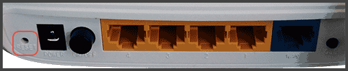 Кнопка reset на роутере TP-Link