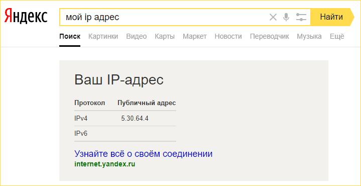 Внешний IP-адрес роутера